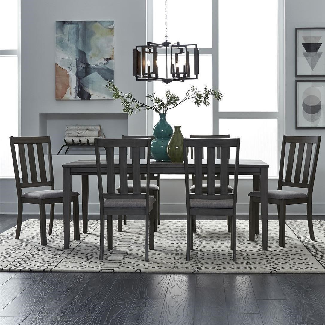 Tanners Creek 7 Piece Rectangular Table Set  by Libby at Walker's Furniture