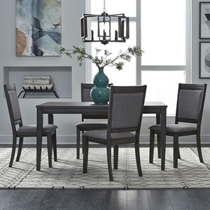 5 Piece Leg Table and Chair Set Set