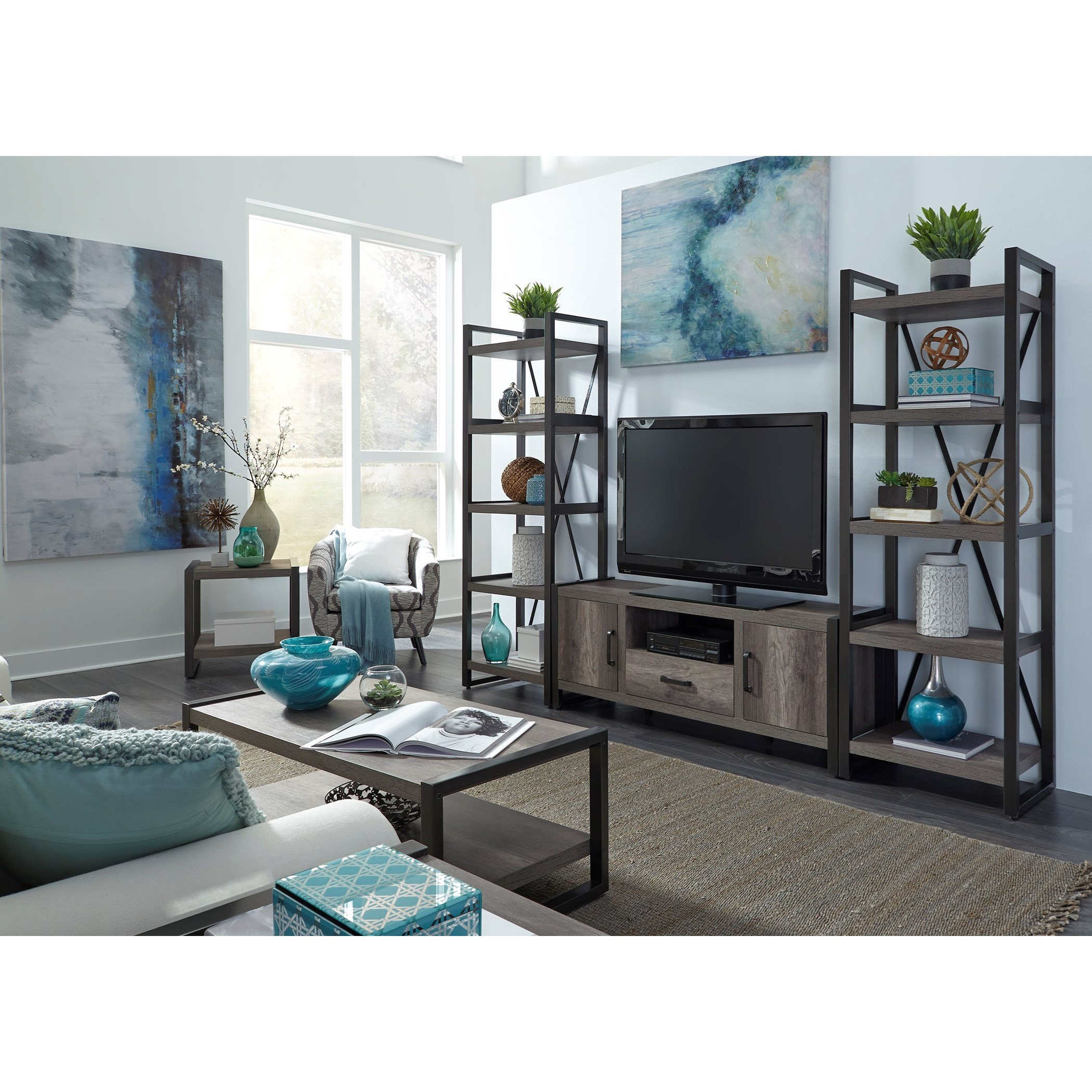 Tanners Creek Entertainment Center with Piers  by Libby at Walker's Furniture
