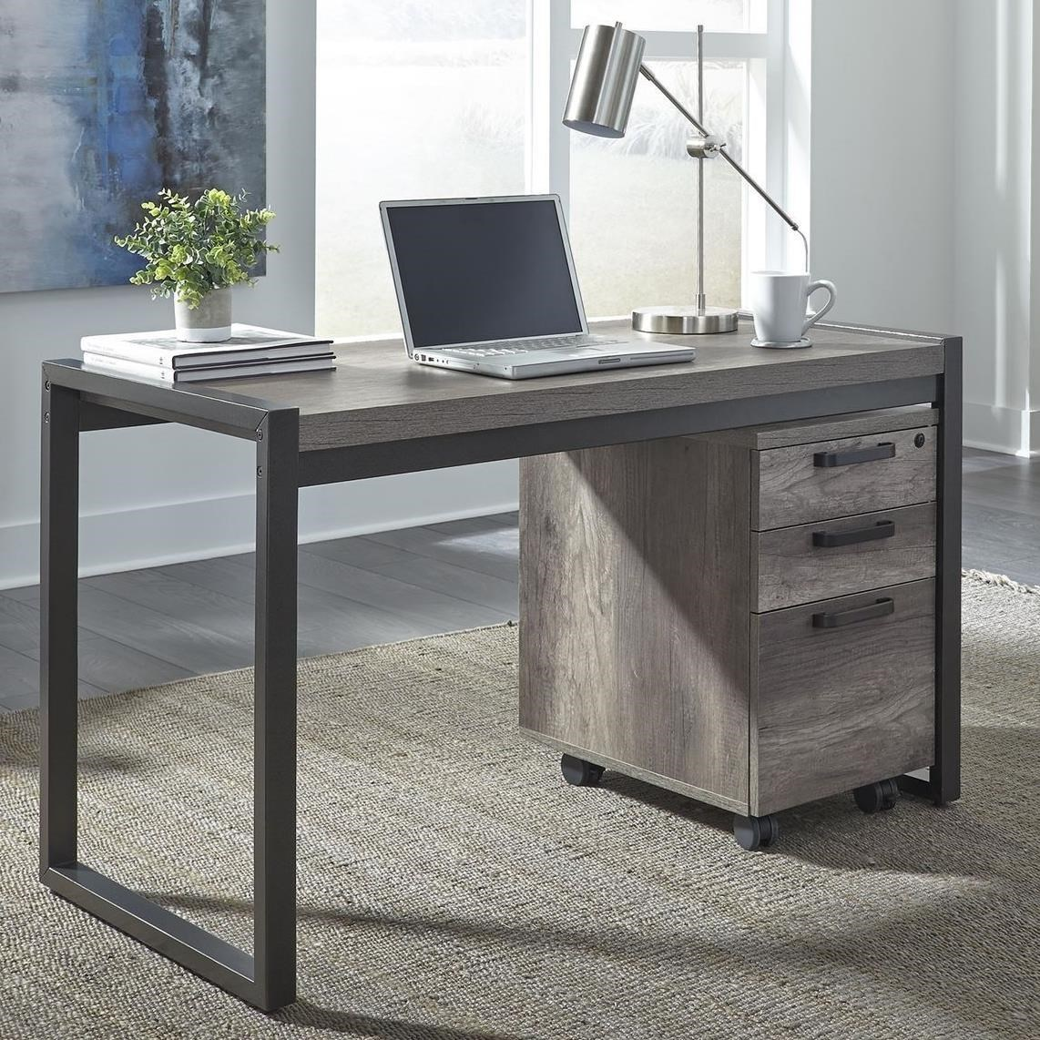 Tanners Creek Desk with File Cabinet by Libby at Walker's Furniture