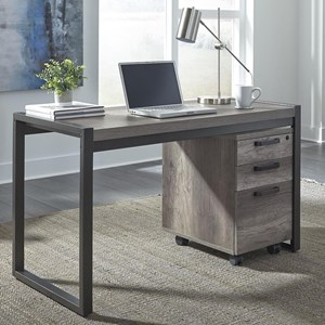 Contemporary Writing Desk with 3 Drawer File Cabinet