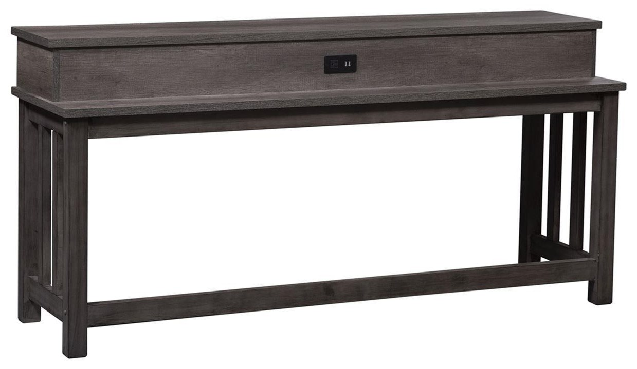 Tanners Creek Contemporary Console Bar Table by Liberty Furniture at Westrich Furniture & Appliances