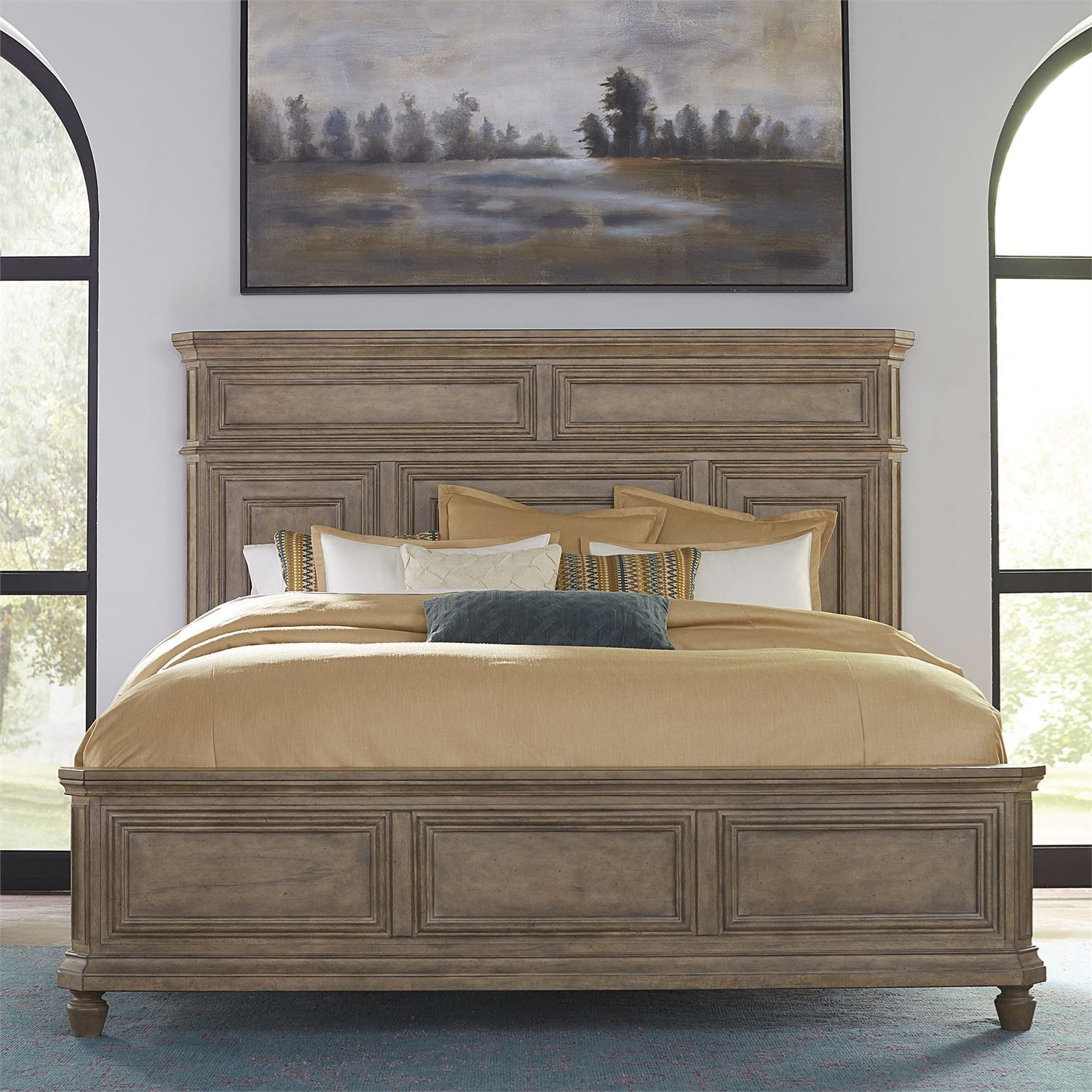 The Laurels King Panel Bed by Libby at Walker's Furniture