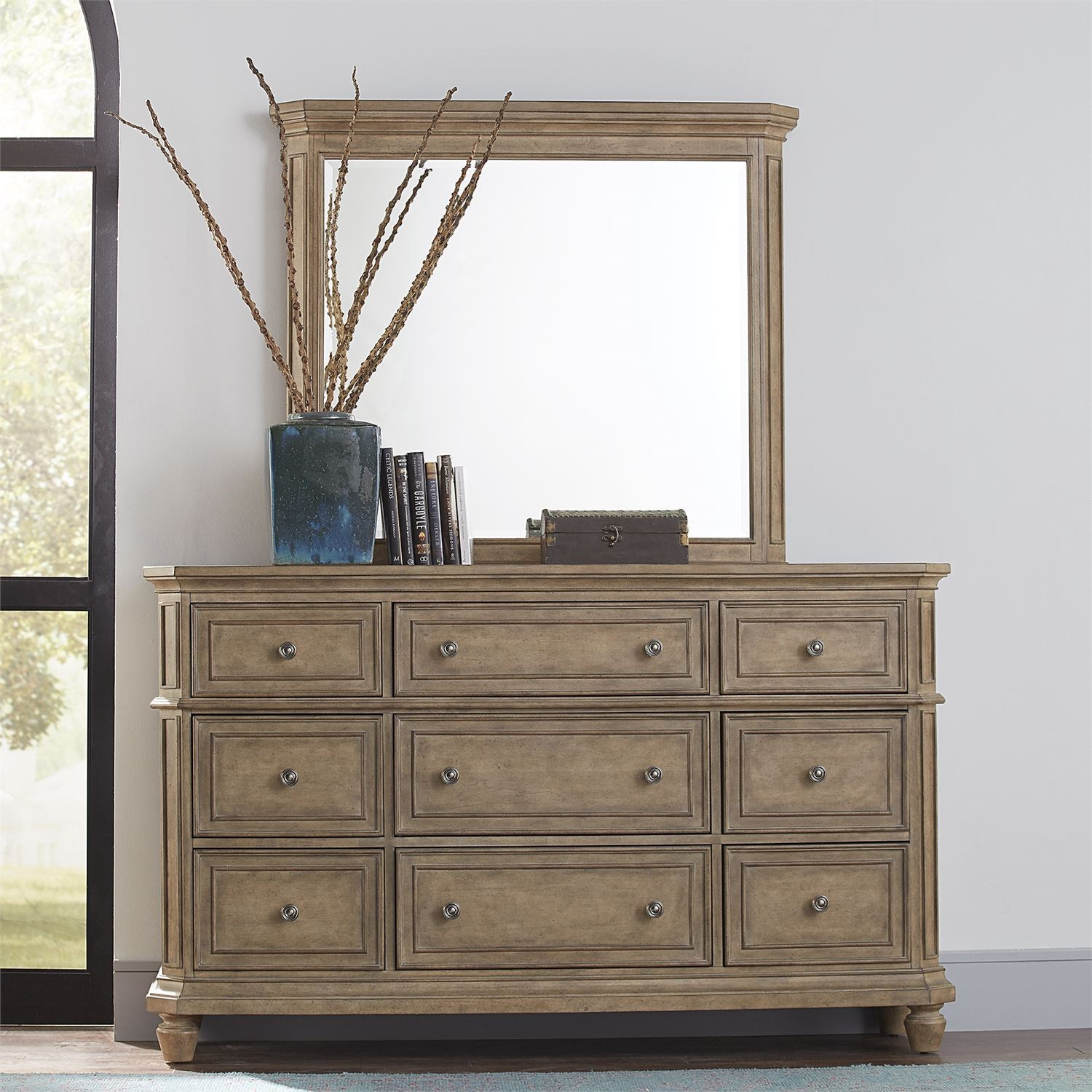 The Laurels Dresser and Mirror by Libby at Walker's Furniture