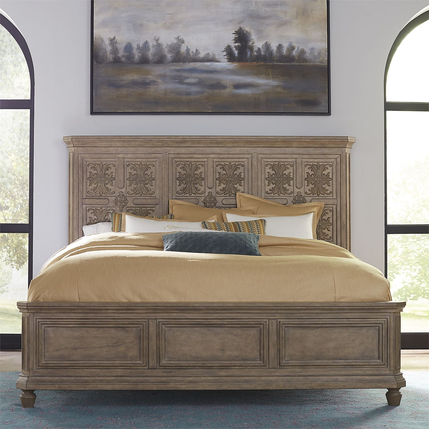 The Laurels Decorative California King Panel Bed by Libby at Walker's Furniture