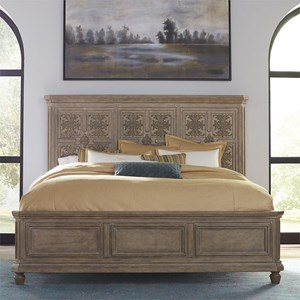Relaxed Vintage Decorative Queen Panel Bed