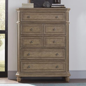 Relaxed Vintage Solid Wood 5-Drawer Chest