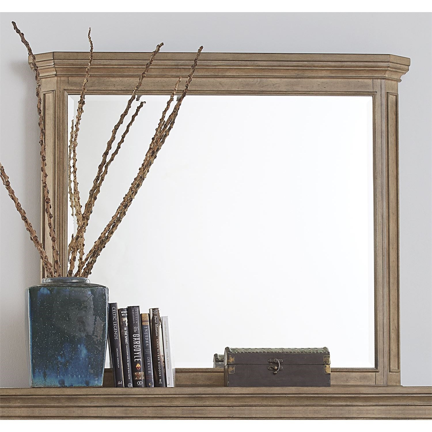 The Laurels Landscape Mirror by Libby at Walker's Furniture