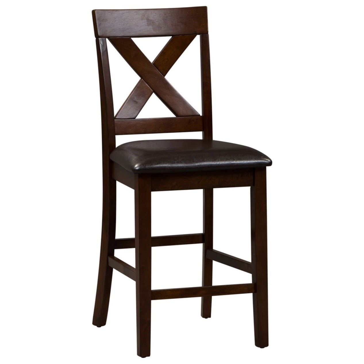 Thornton X-Back Counter Chair by Libby at Walker's Furniture