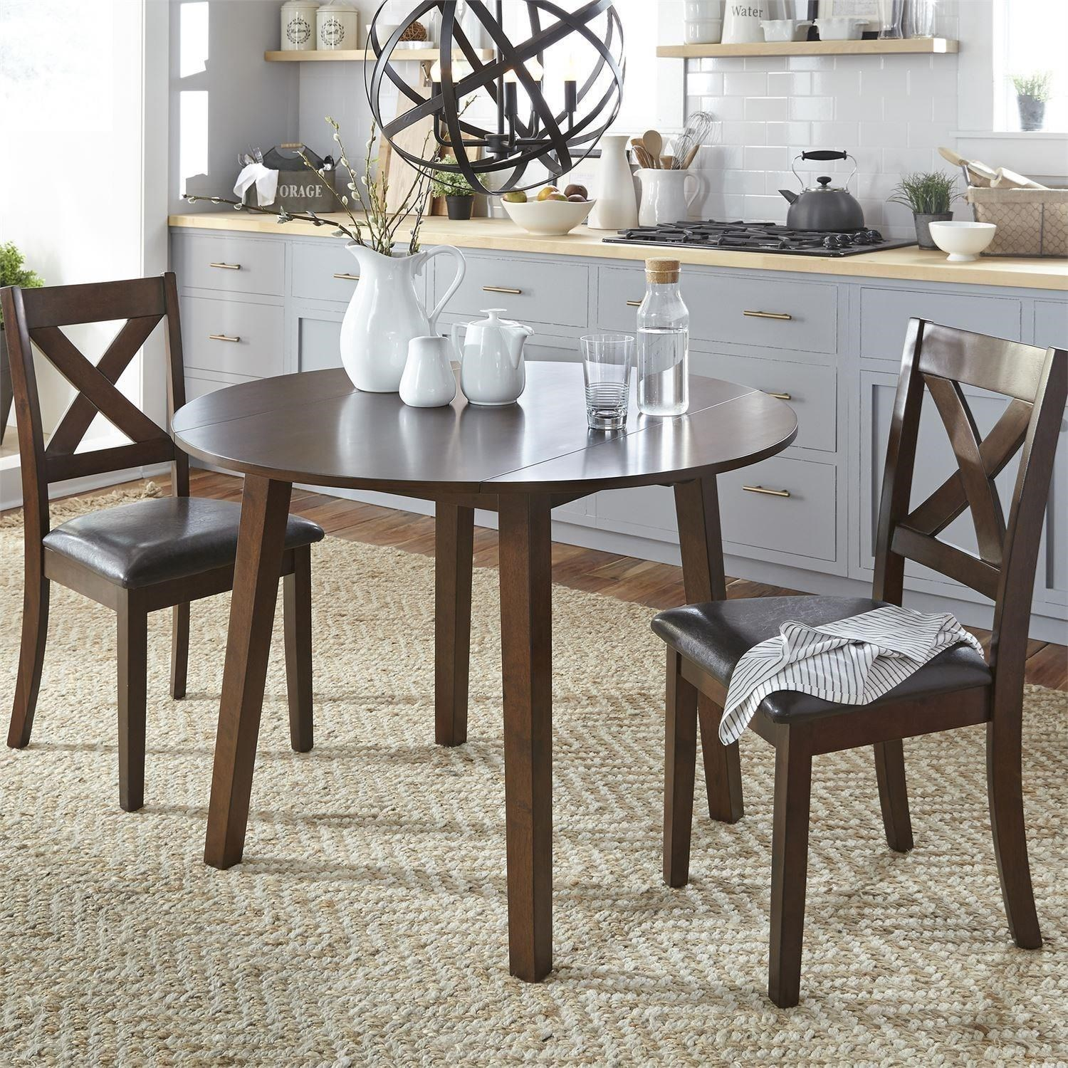 Thornton 3 Piece Drop Leaf Table Set by Liberty Furniture at Upper Room Home Furnishings
