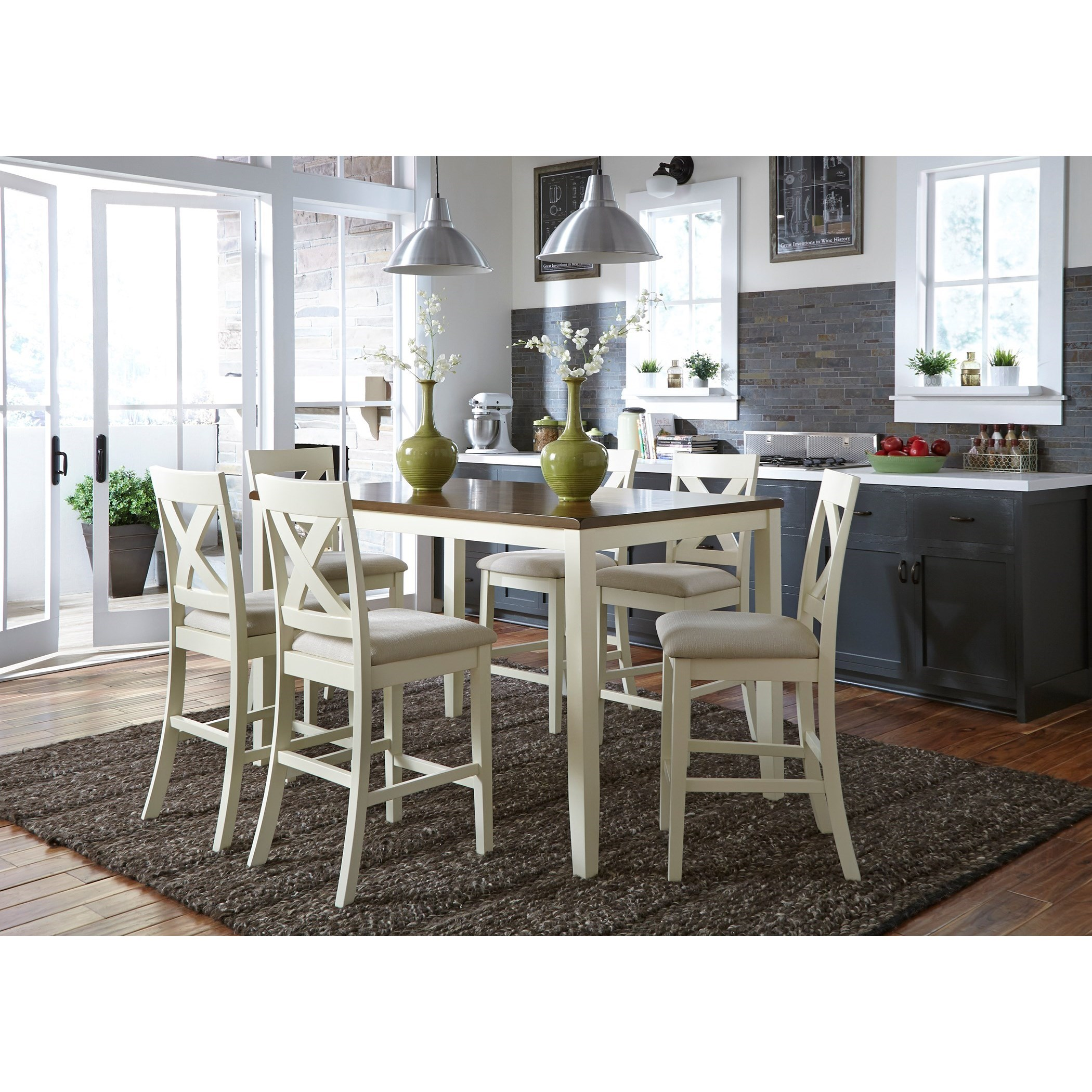 Thornton 7 Piece Gathering Table Set by Libby at Walker's Furniture