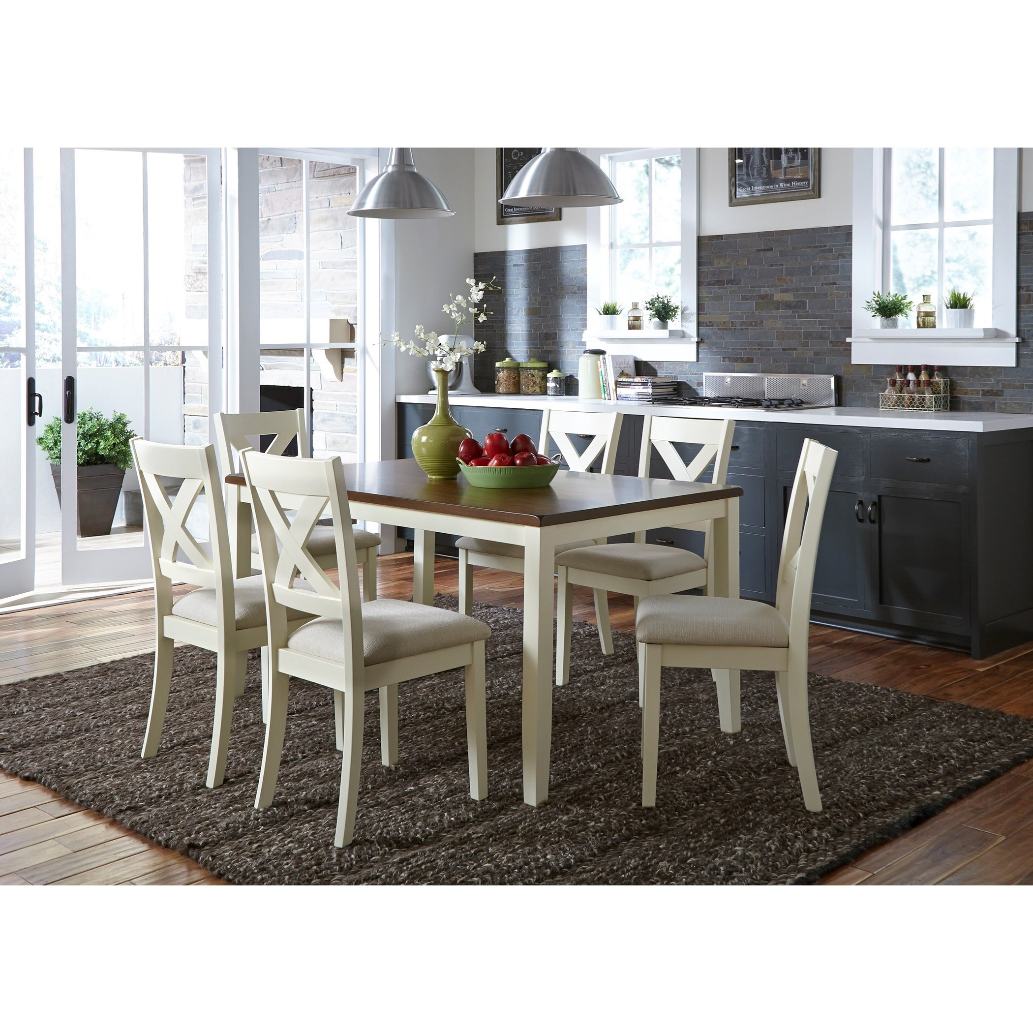 Thornton 7 Piece Rectangular Table Set by Libby at Walker's Furniture