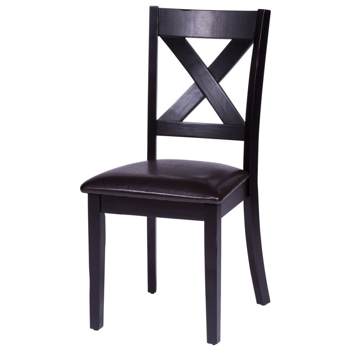 Thornton X-Back Side Chair by Libby at Walker's Furniture
