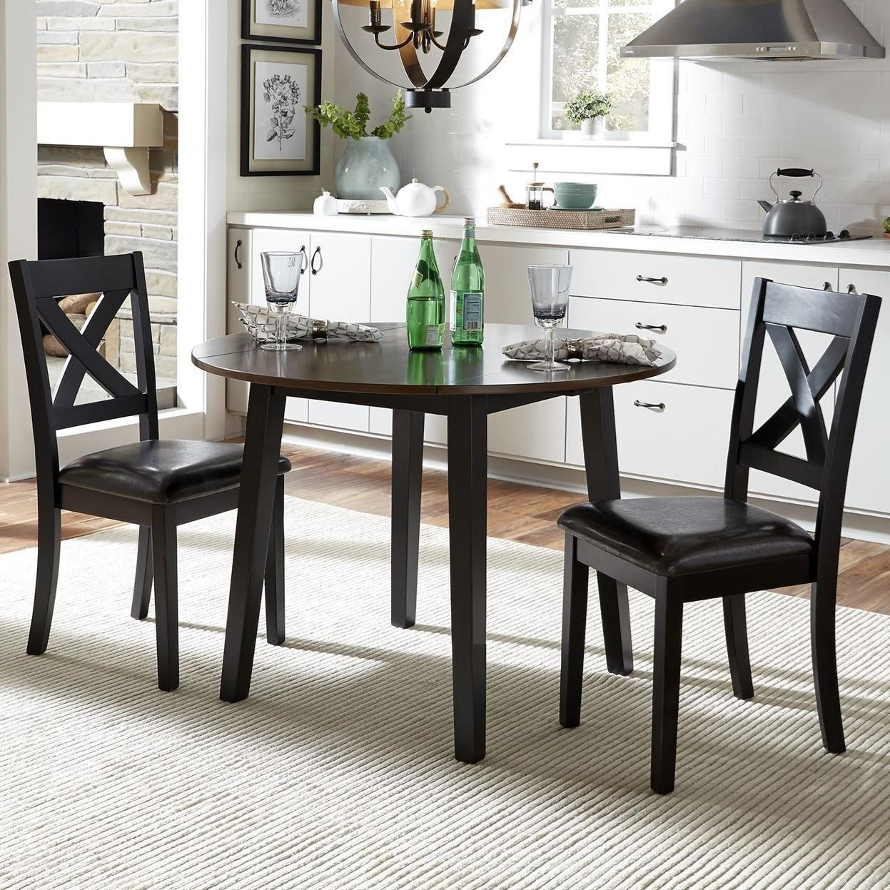 Thornton 3 Piece Drop Leaf Table Set by Libby at Walker's Furniture