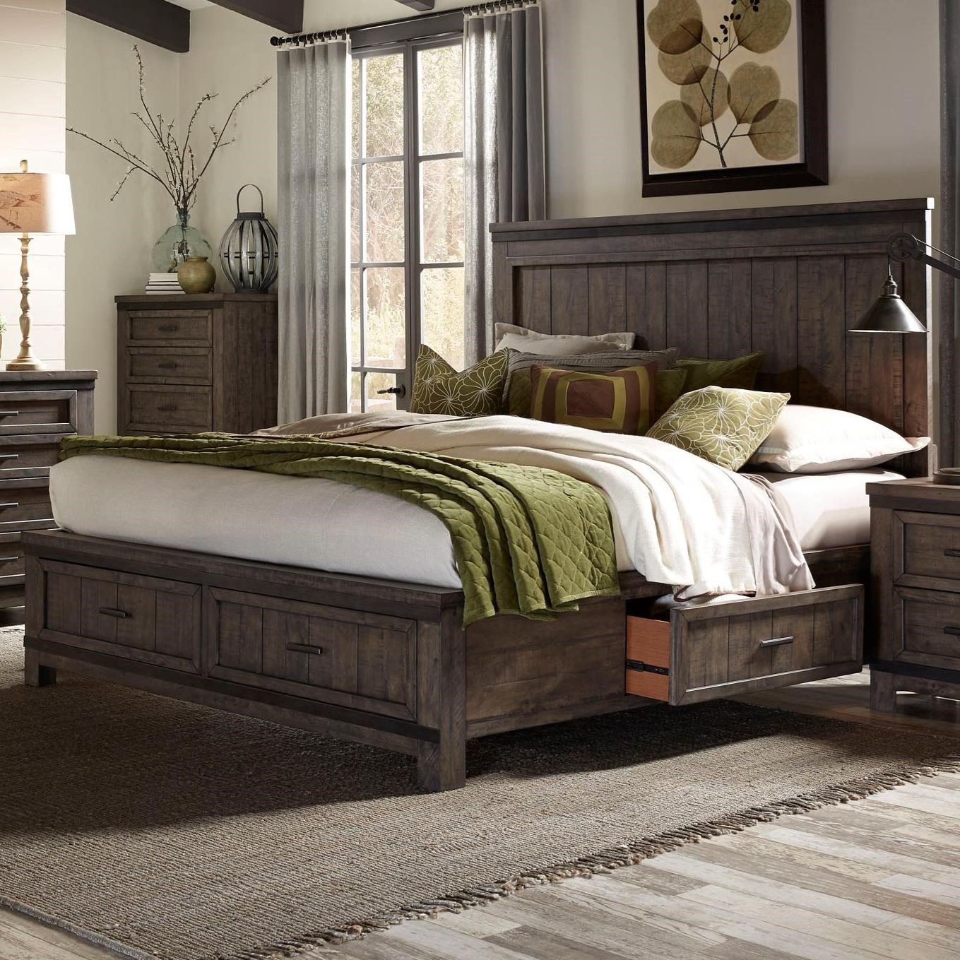 Thornwood Hills King Two Sided Storage Bed by Libby at Walker's Furniture