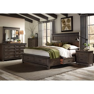 Liberty Furniture Thornwood Hills Queen Bedroom Group