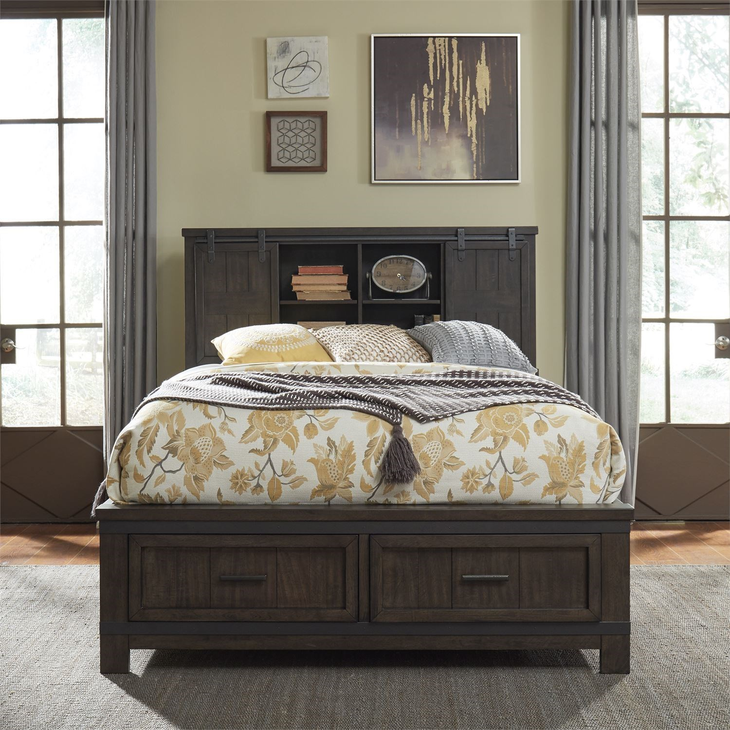 Thornwood Hills Queen Bookcase Bed by Libby at Walker's Furniture