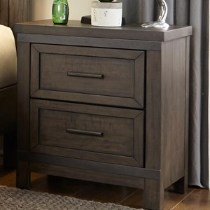 Rustic 2 Drawer Night Stand