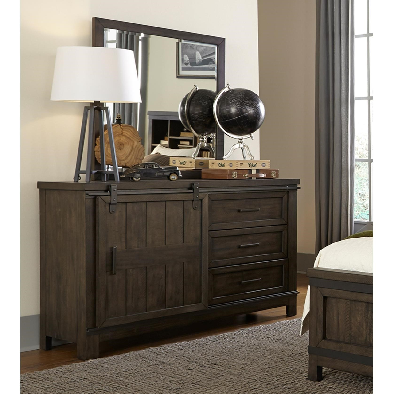 Thornwood Hills Dresser and Mirror by Libby at Walker's Furniture