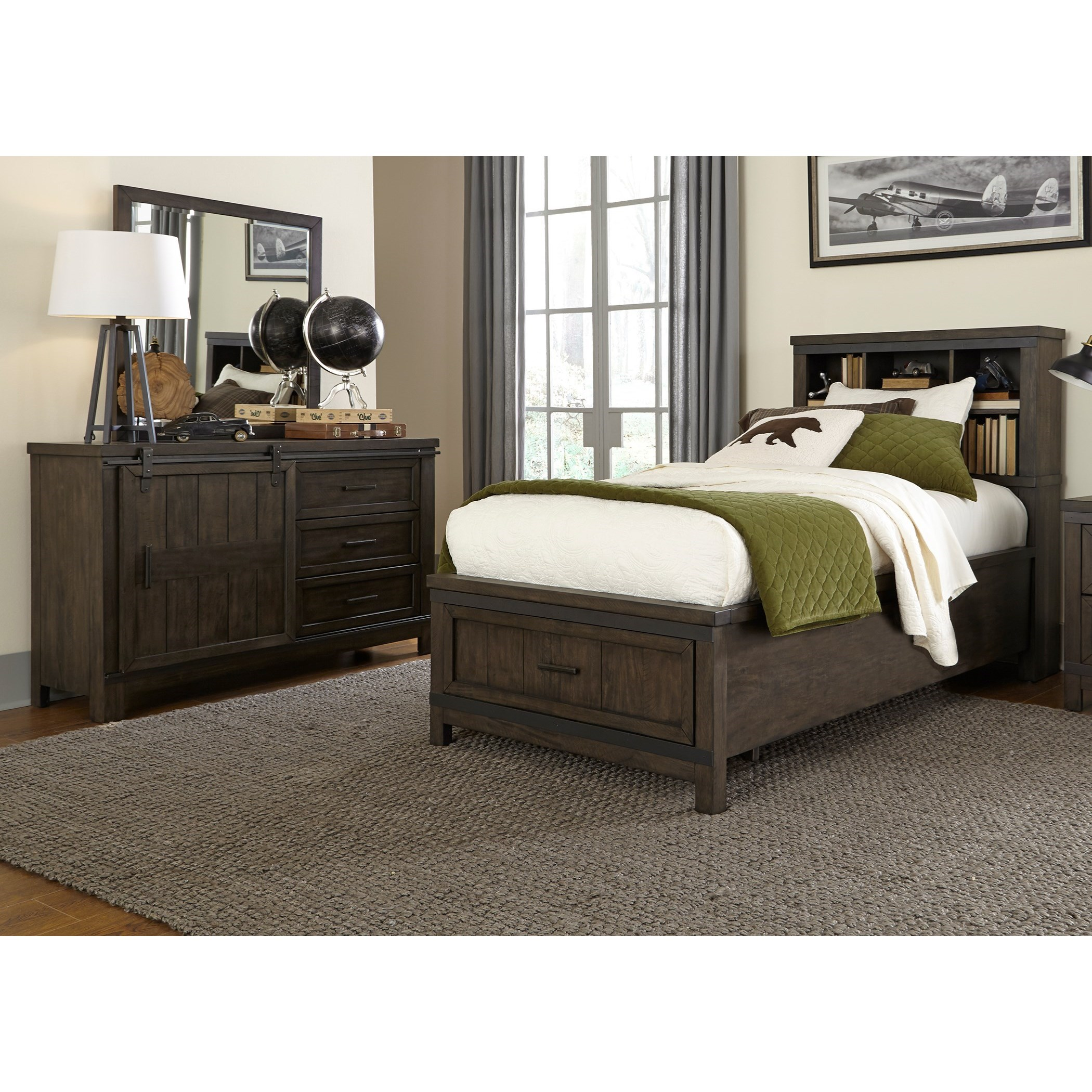 Thornwood Hills Twin Bedroom Group by Libby at Walker's Furniture