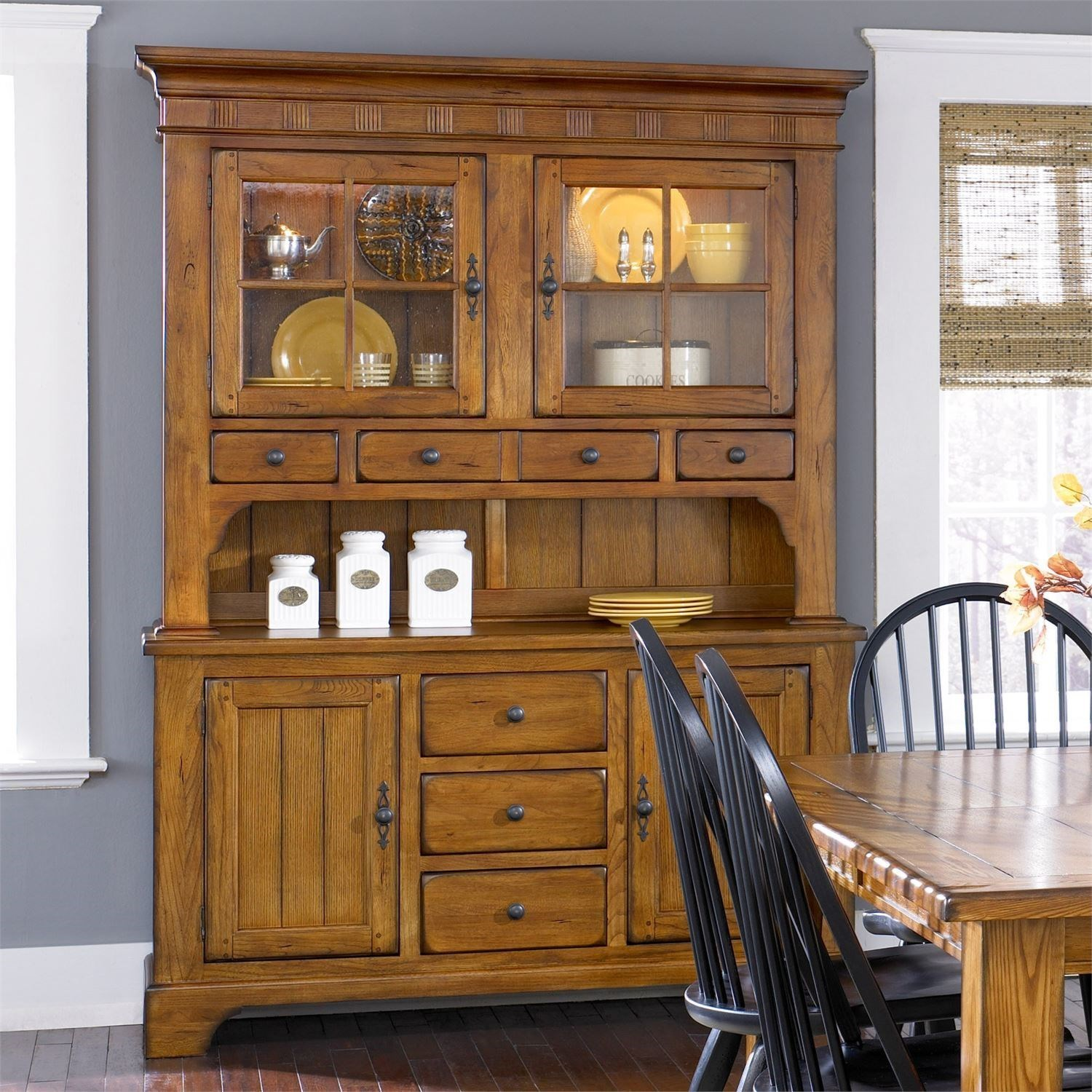 Treasures  Buffet & Hutch by Libby at Walker's Furniture