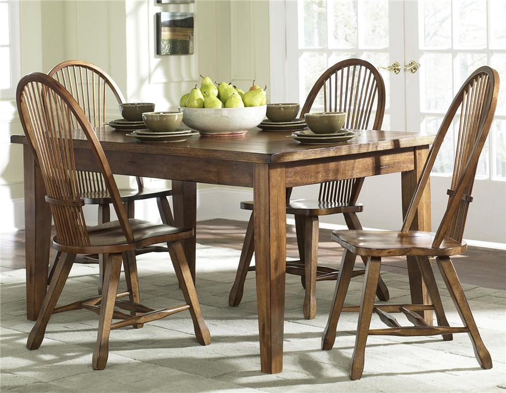 Treasures  Solid Top Leg Table by Libby at Walker's Furniture