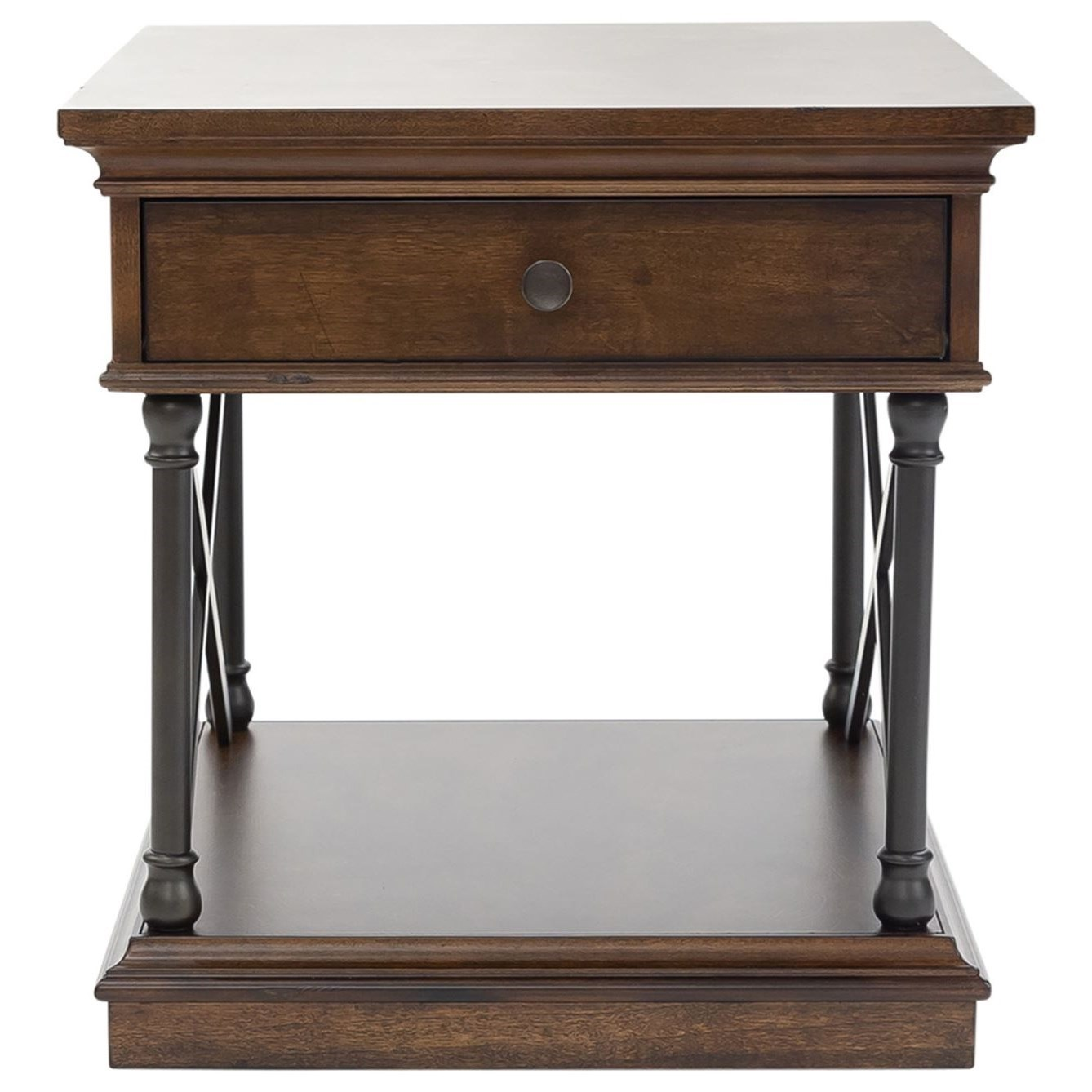 Tribeca Drawer End Table by Libby at Walker's Furniture
