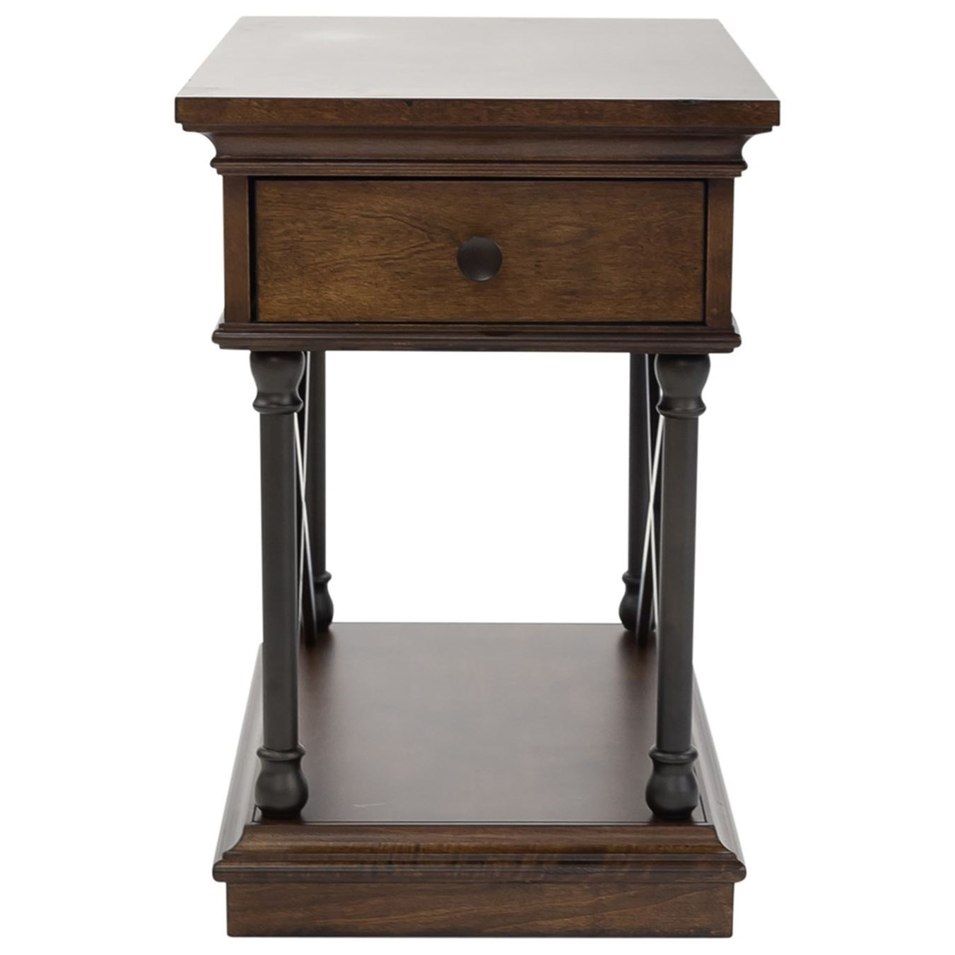 Tribeca Drawer Chair Side Table by Libby at Walker's Furniture