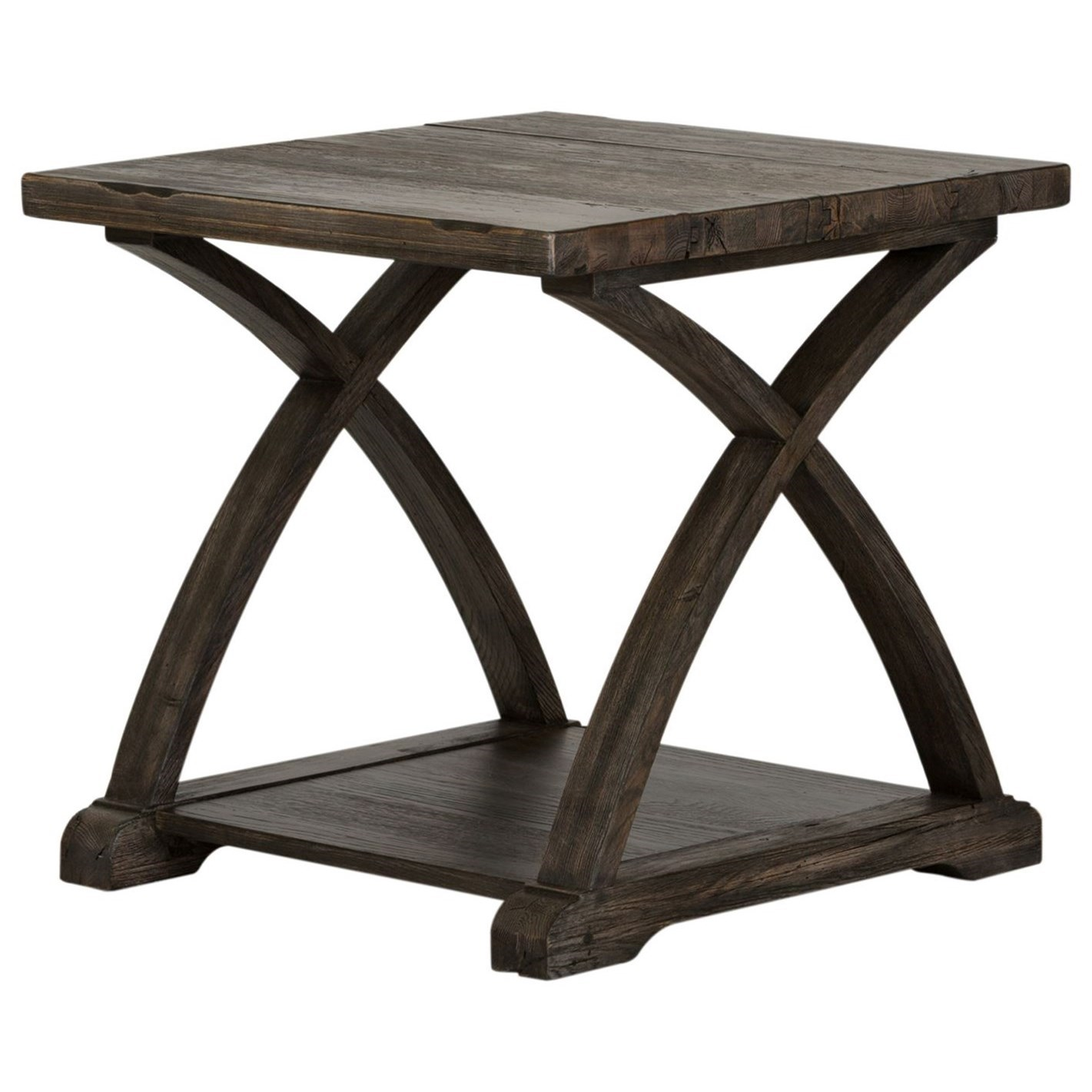 Twin Oaks End Table with Bottom Shelf by Liberty Furniture at Upper Room Home Furnishings