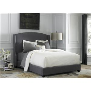 King Upholstered Shelter Bed