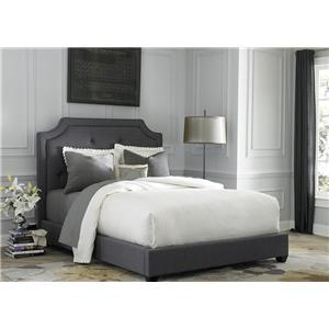 King Upholstered Sloped Panel Bed