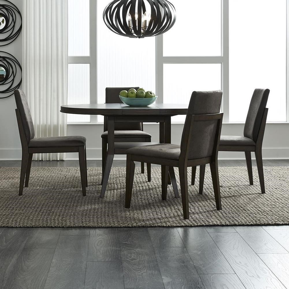 Vince 5-Piece Pedestal Table Set by Libby at Walker's Furniture