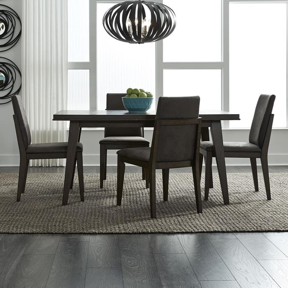 Vince 5-Piece Rectangular Table Set by Libby at Walker's Furniture