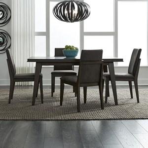 Contemporary 5-Piece Rectangular Table Set