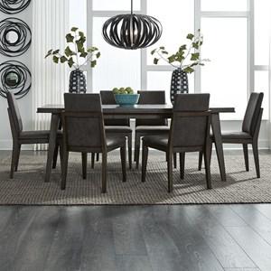 Contemporary 7-Piece Rectangular Table Set