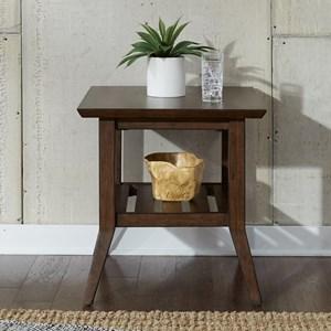 Contemporary Rectangular End Table