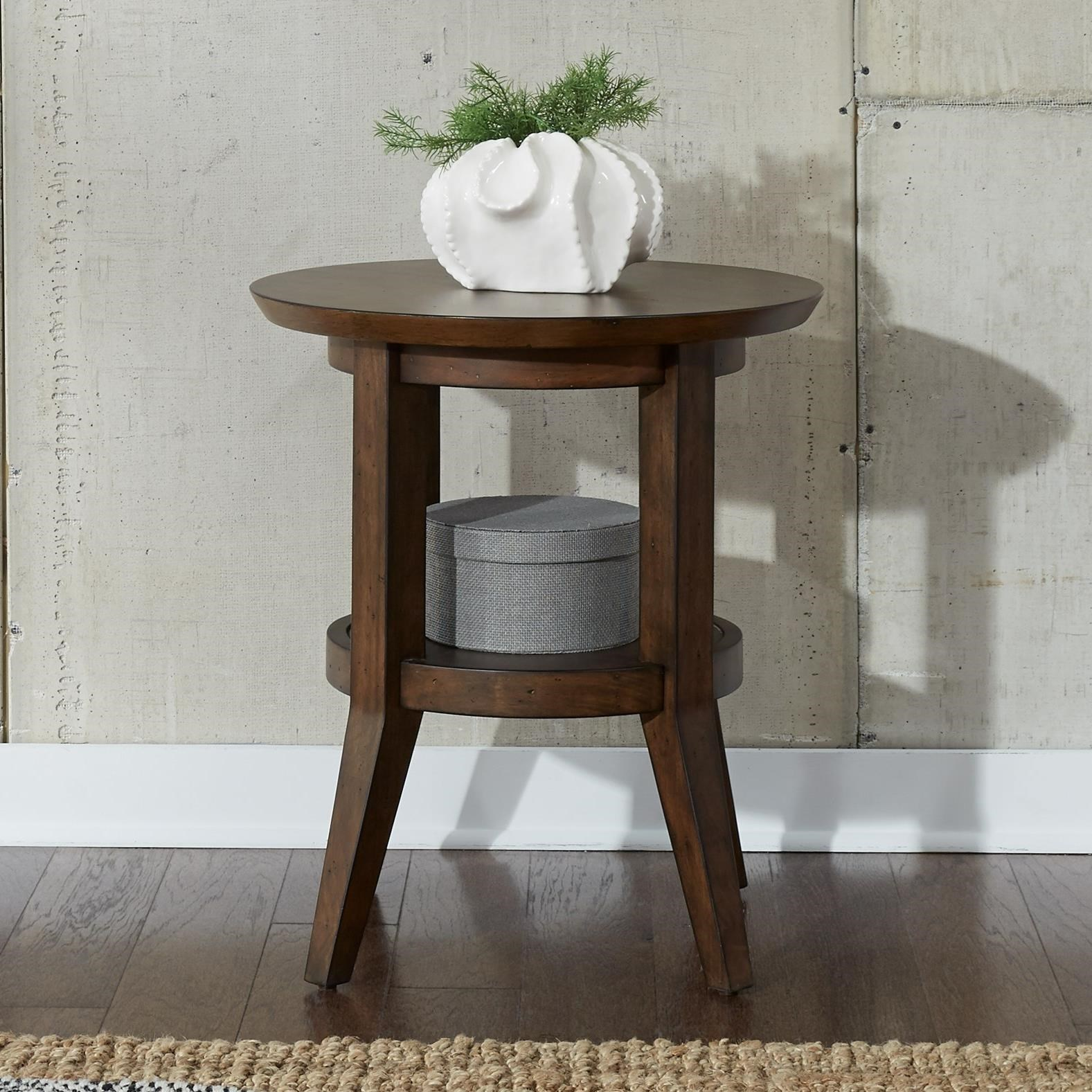 Ventura Boulevard Round End Table by Liberty Furniture at Darvin Furniture