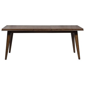 Contemporary Rectangular Leg Table with Leaf