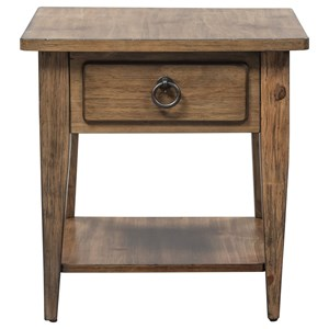 Casual Pine 1-Drawer End Table