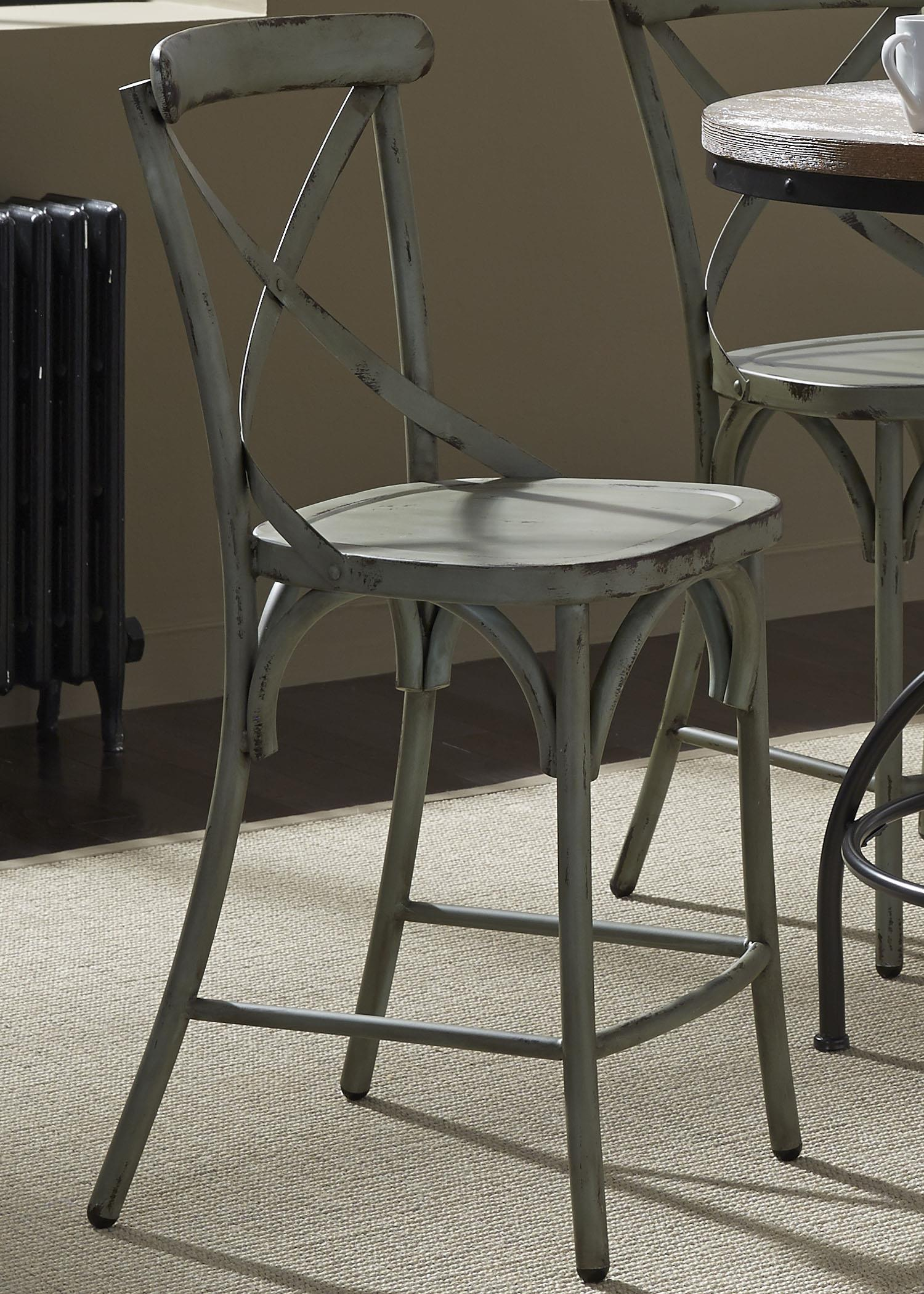 Vintage Dining Series X-Back Counter Chair by Libby at Walker's Furniture