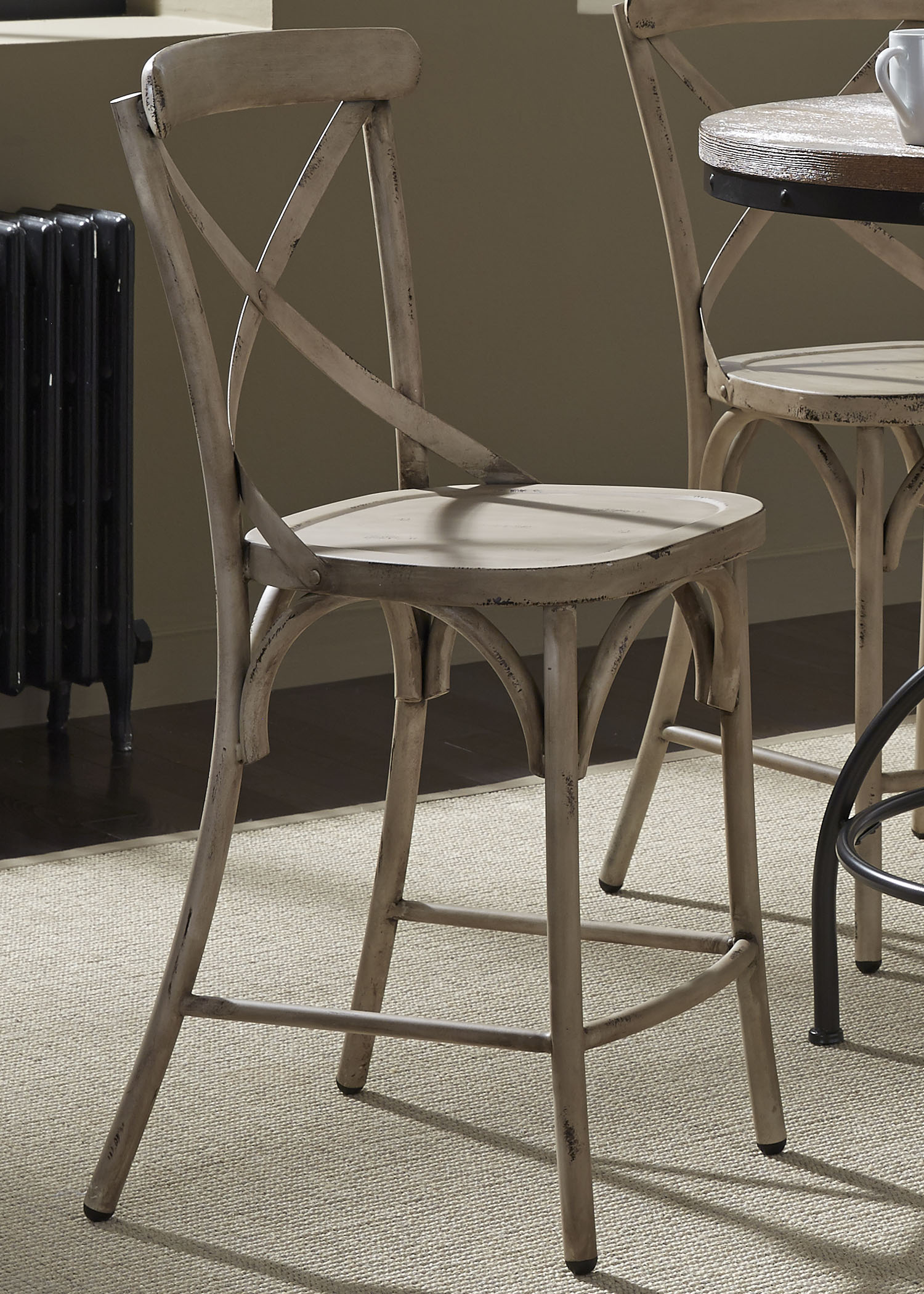 Vintage Dining Series X-Back Counter Chair by Liberty Furniture at Northeast Factory Direct