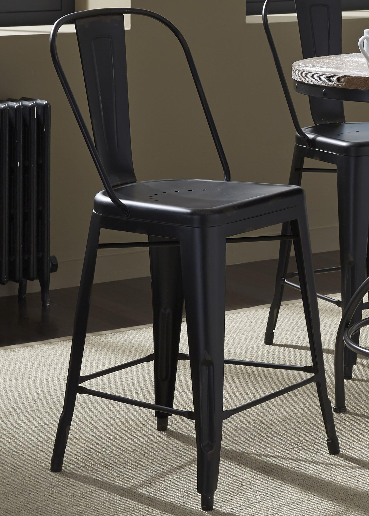 Vintage Dining Series Bow Back Counter Chair by Liberty Furniture at Northeast Factory Direct