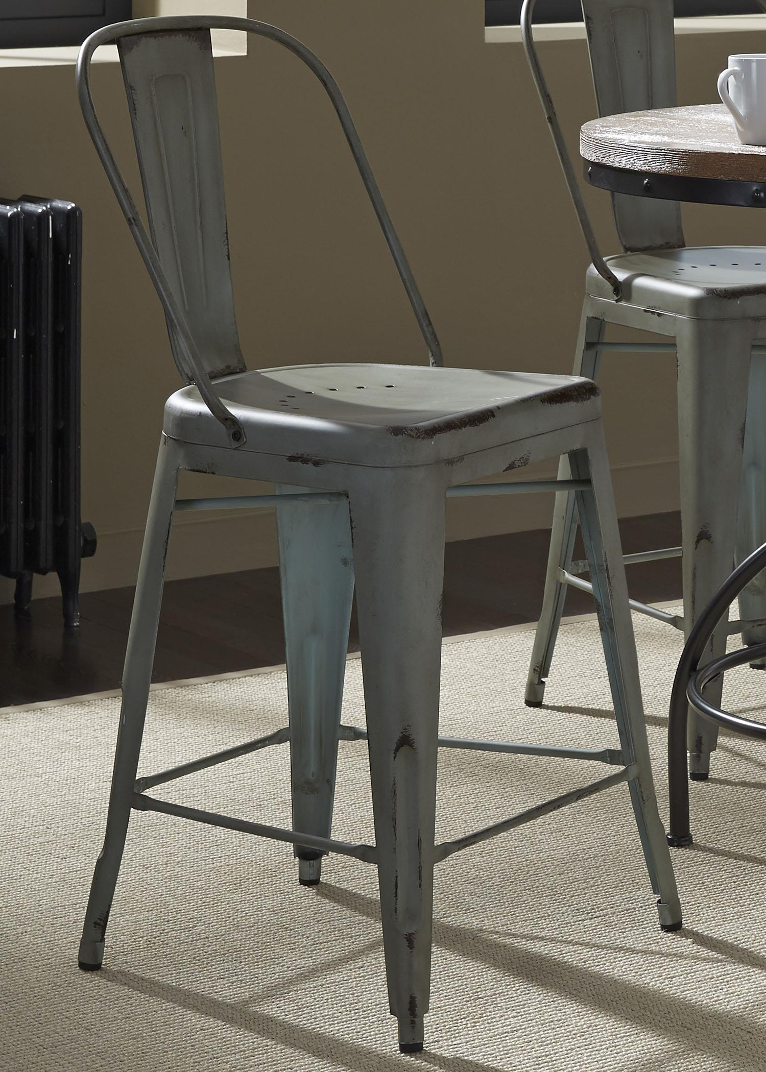 Vintage Dining Series Bow Back Counter Chair by Libby at Walker's Furniture