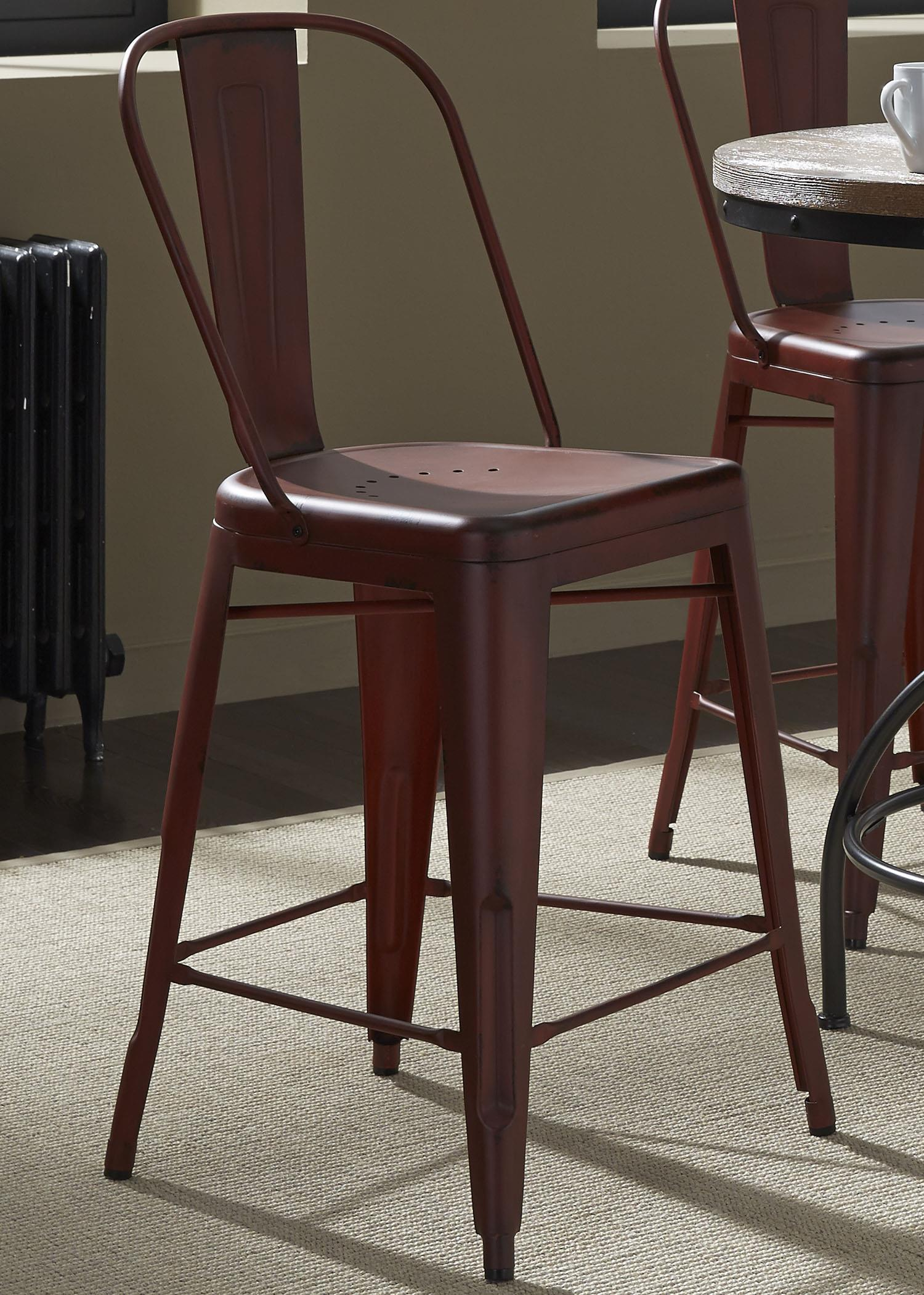 Vintage Dining Series Bow Back Counter Chair by Liberty Furniture at Bullard Furniture