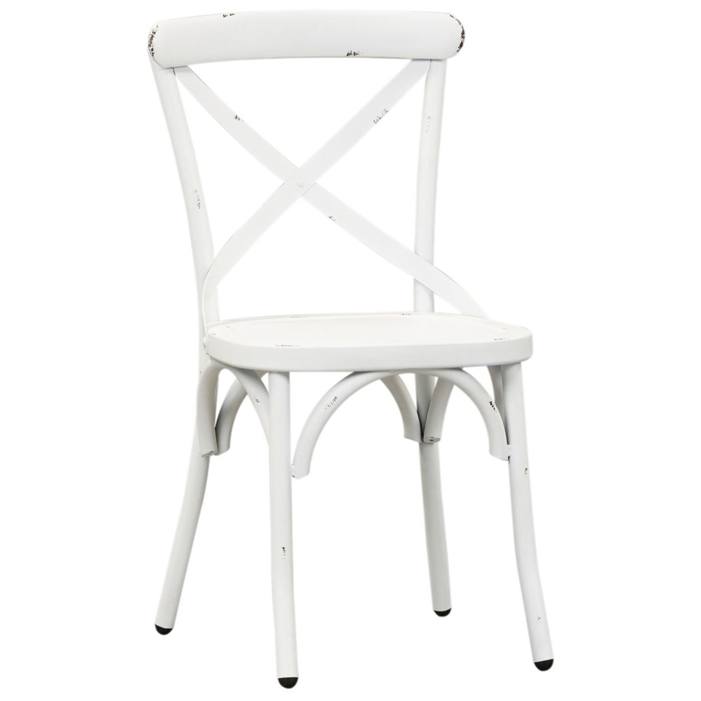 Vintage Dining Series X-Back Dining Side Chair by Libby at Walker's Furniture
