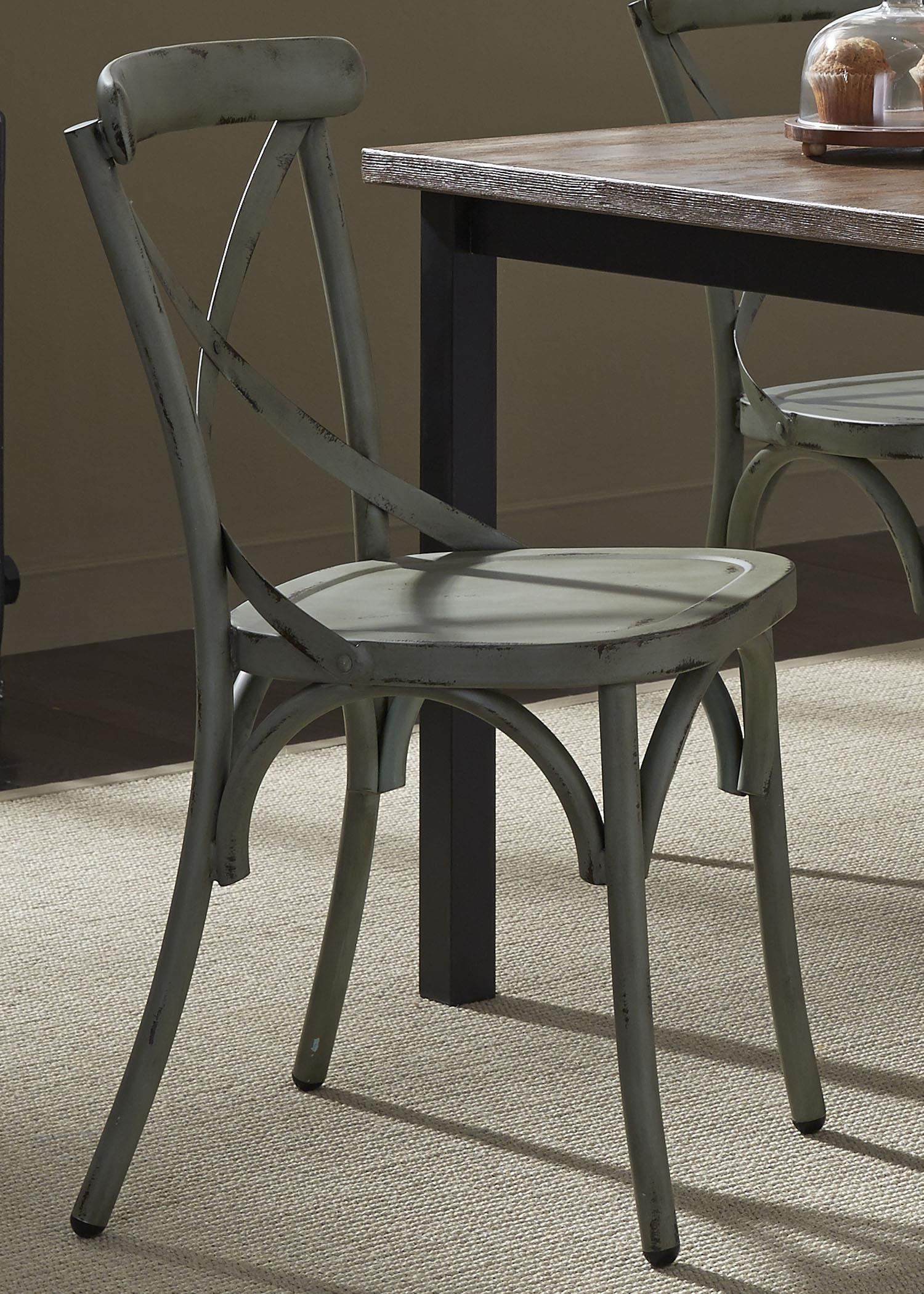 Vintage Dining Series X-Back Dining Side Chair by Liberty Furniture at Northeast Factory Direct