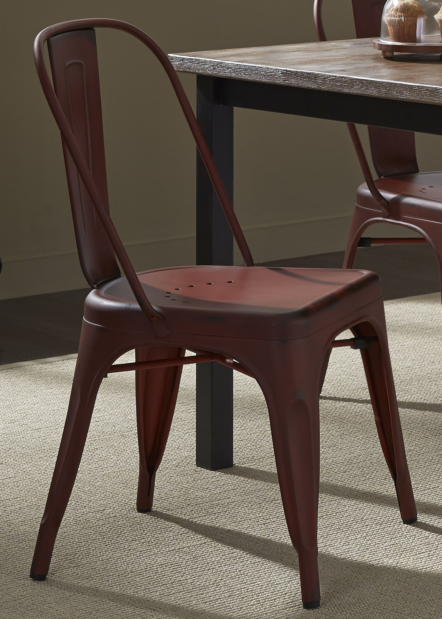 Vintage Dining Series Bow Back Dining Side Chair by Liberty Furniture at Lapeer Furniture & Mattress Center