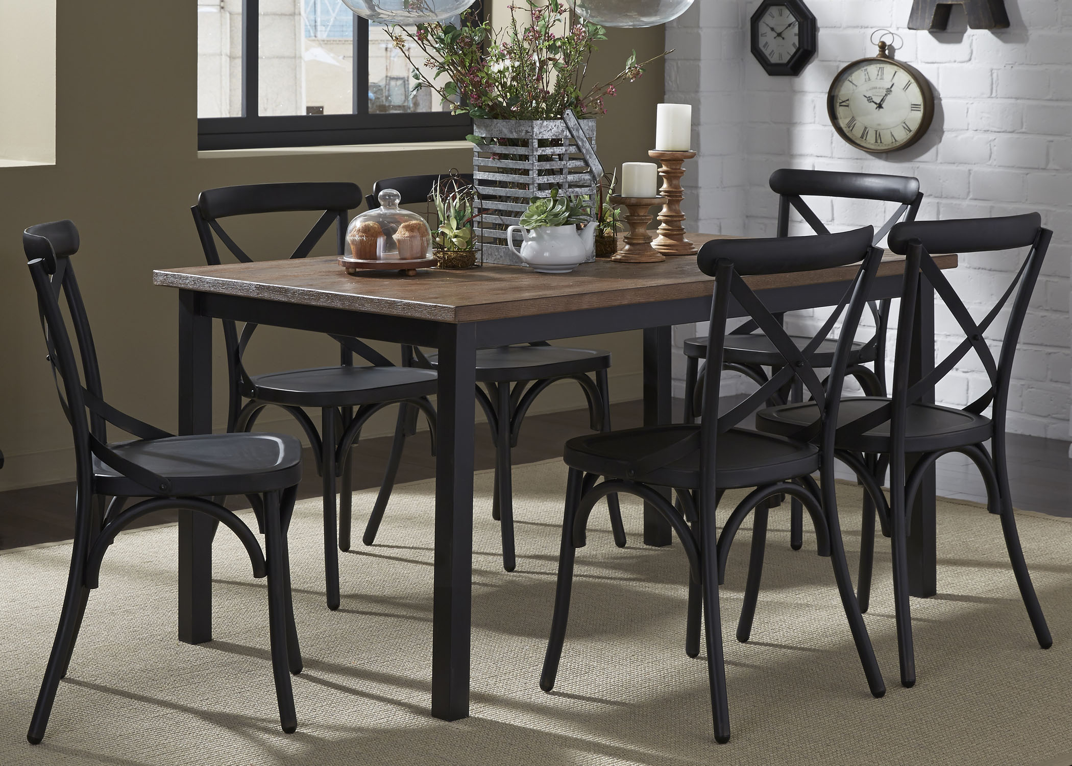 Vintage Dining Series 7-Piece Table and Chair Set by Liberty Furniture at Home Collections Furniture