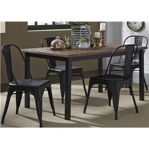 5-Piece Gathering Table and Bow Back Side Chair Set