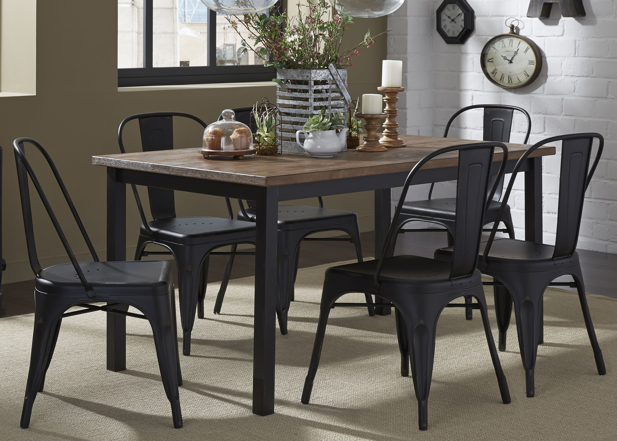 Vintage Dining Series 7-Piece Table and Chair Set by Freedom Furniture at Ruby Gordon Home